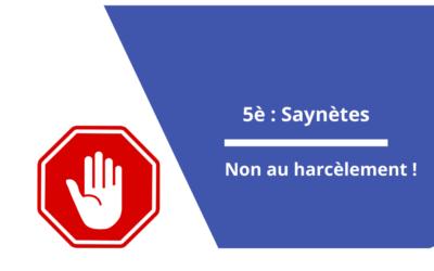 Saynètes des 5è : » Non au harcèlement «