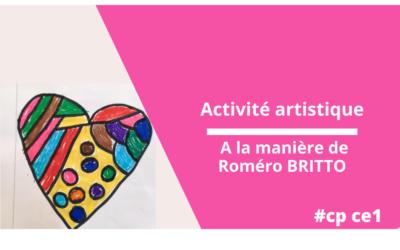 Activité artistique : à la manière de Roméro BRITTO
